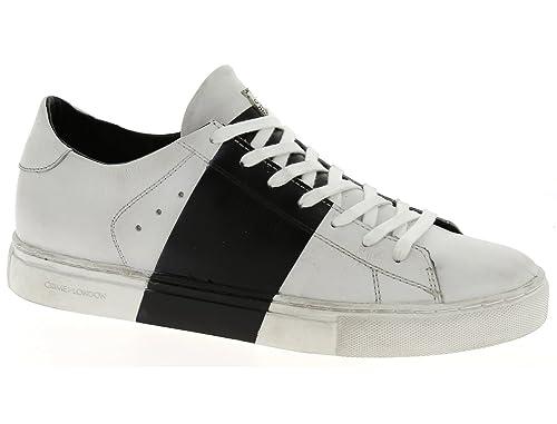 Crime modello 11040S16B scarpe uomo bianche e nere-43  Amazon.it ... 3290cc41d98