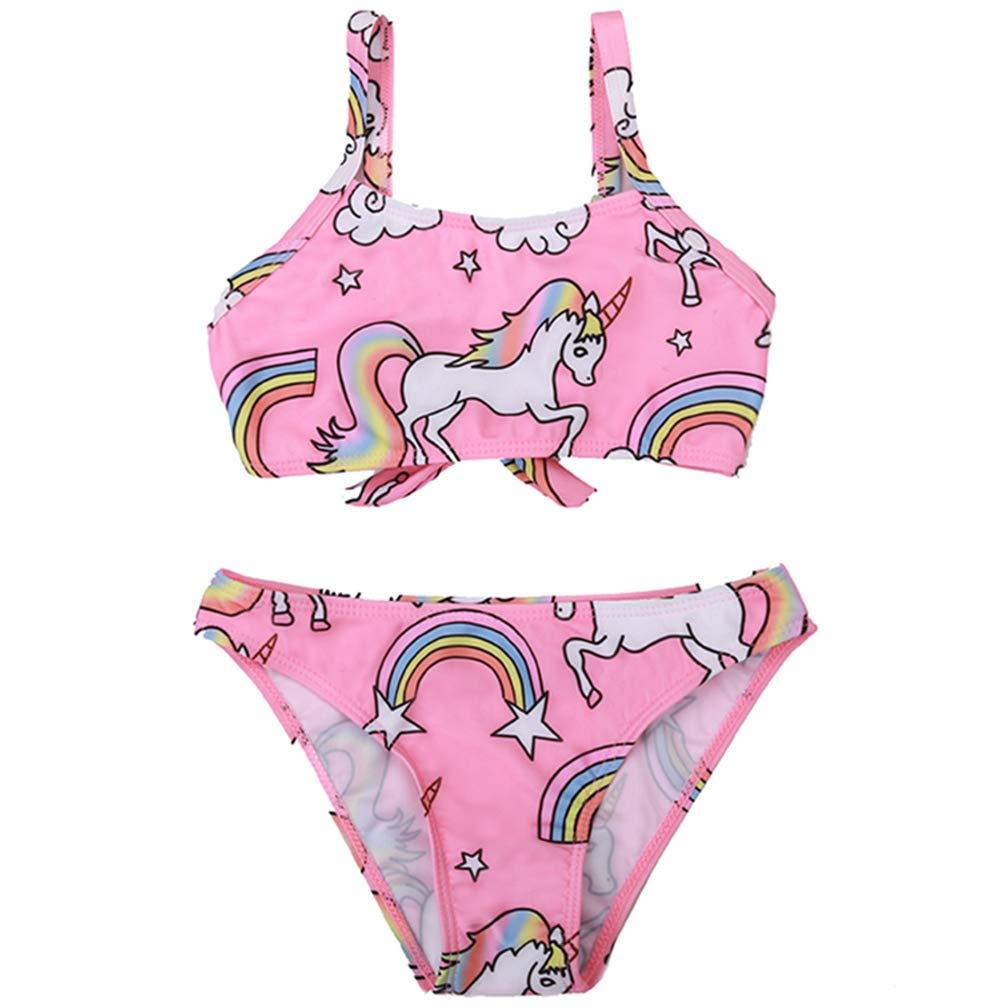 TERODACO Little Girls One Piece Swimsuit Hawaiian Ruffle Lovely Cartoon Beach Swimwear Swimpool Bathing Suit Swim Rash Guard