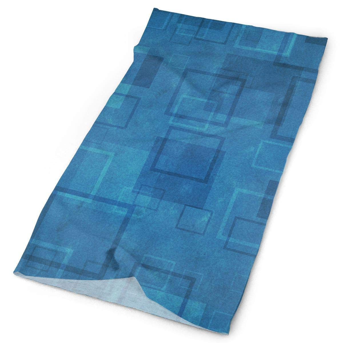 Cool Blue Square Unisex Fashion Quick-Drying Microfiber Headdress Outdoor Magic Scarf Neck Neck Scarf Hooded Scarf Super Soft Handle
