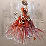 "Artoree DIY 5D Diamond Painting by Number Kit for Adult, Full Drill Diamond Embroidery Dotz Kit Home Wall Decor-16x16"" Back Girl"