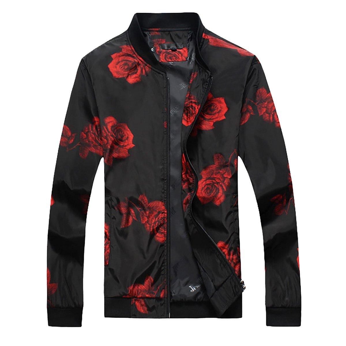 Cloudstyle Mens Slim Fit Jacket Lightweight Sportswear Casual Long Sleeve Bomber Jacket 003Jacket