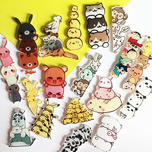 Cartoon acrylic jewelry Stacker badge Luffy changed little yellow d brooch patch notes (Tall Products Stacker Patch)