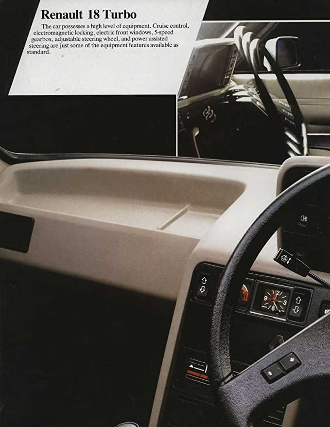Amazon.com: 1982 Renault 18 TL TS GTL Automatic GTD TX GTX Turbo Brochure England: Entertainment Collectibles