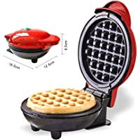 St. Lun The Mini Waffle Maker Machine, Mini Maker Electric Round Griddle for Individual Pancakes, Cookies, Eggs & other…