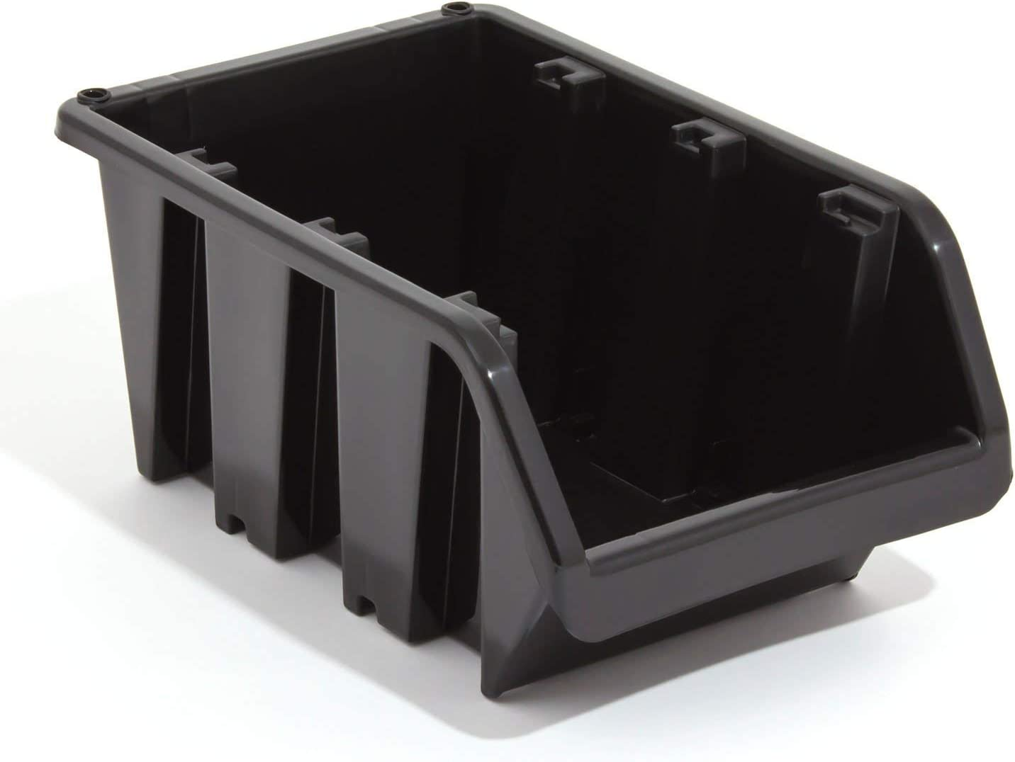 EN-Gehege stapelbar Aufbewahrung Bin Schwarz Gr/ö/ße 1115 x 80 x 60 mm Prosperplast