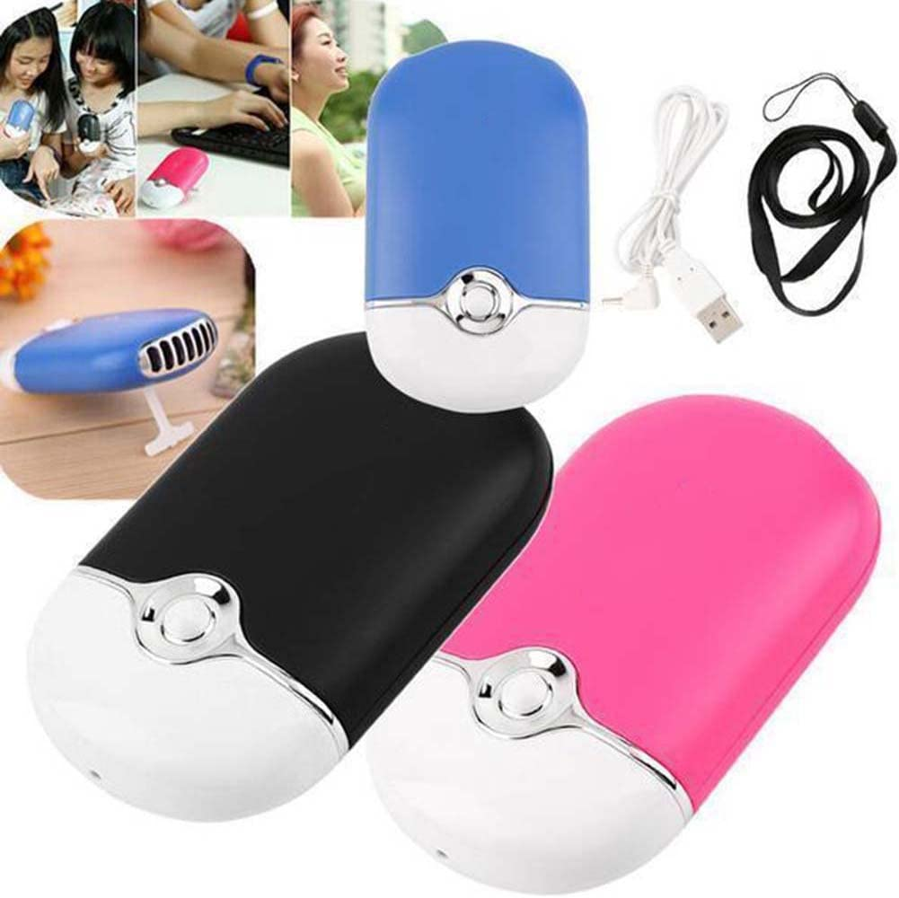 Pink Office Holiday Gifts. Fan Maserfaliw Portable Handheld Mini Cooling Fan USB Rechargeable Air Conditioning Cooler Home Life