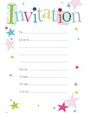 Party Invitations  |Pack of 20 Sheets with Envelopes|