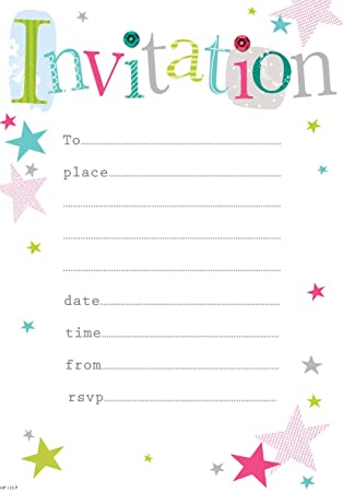 party invitations pack of 20 sheets with envelopes amazon co uk