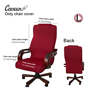 CAVEEN Office Chair Cover Computer Chair Universal Boss Chair Cover Modern Simplism Style High Back Large Size (Chair not Included) red Large