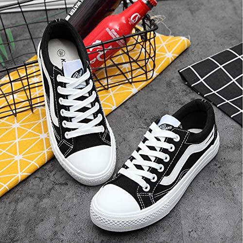 Canvas Mujer Flat Sneakers Verde Comfort Zapatos de Green ZHZNVX Blanco Negro Spring Heel wEqx0tSXY