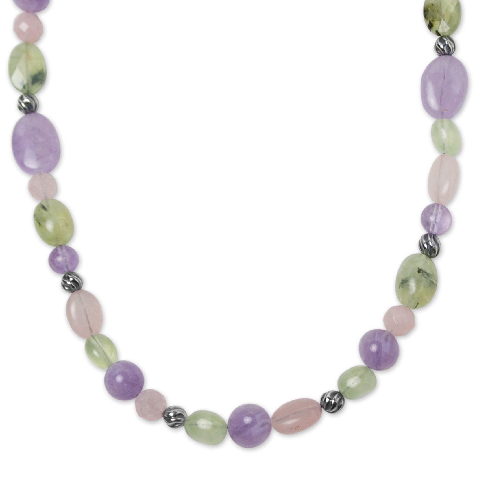 Carolyn Pollack Sterling Silver Pastel Multi Gemstone Bead Necklace, 17''