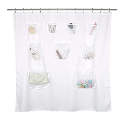 Amazon Mrs Awesome Short Fabric Shower Curtain Or Liner With 9