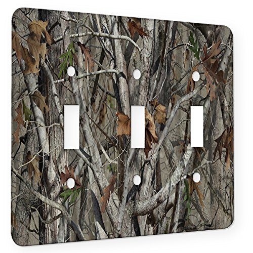 Trees Camouflage - Decor Switch Plate Cover Metal (3 Gang Switch)