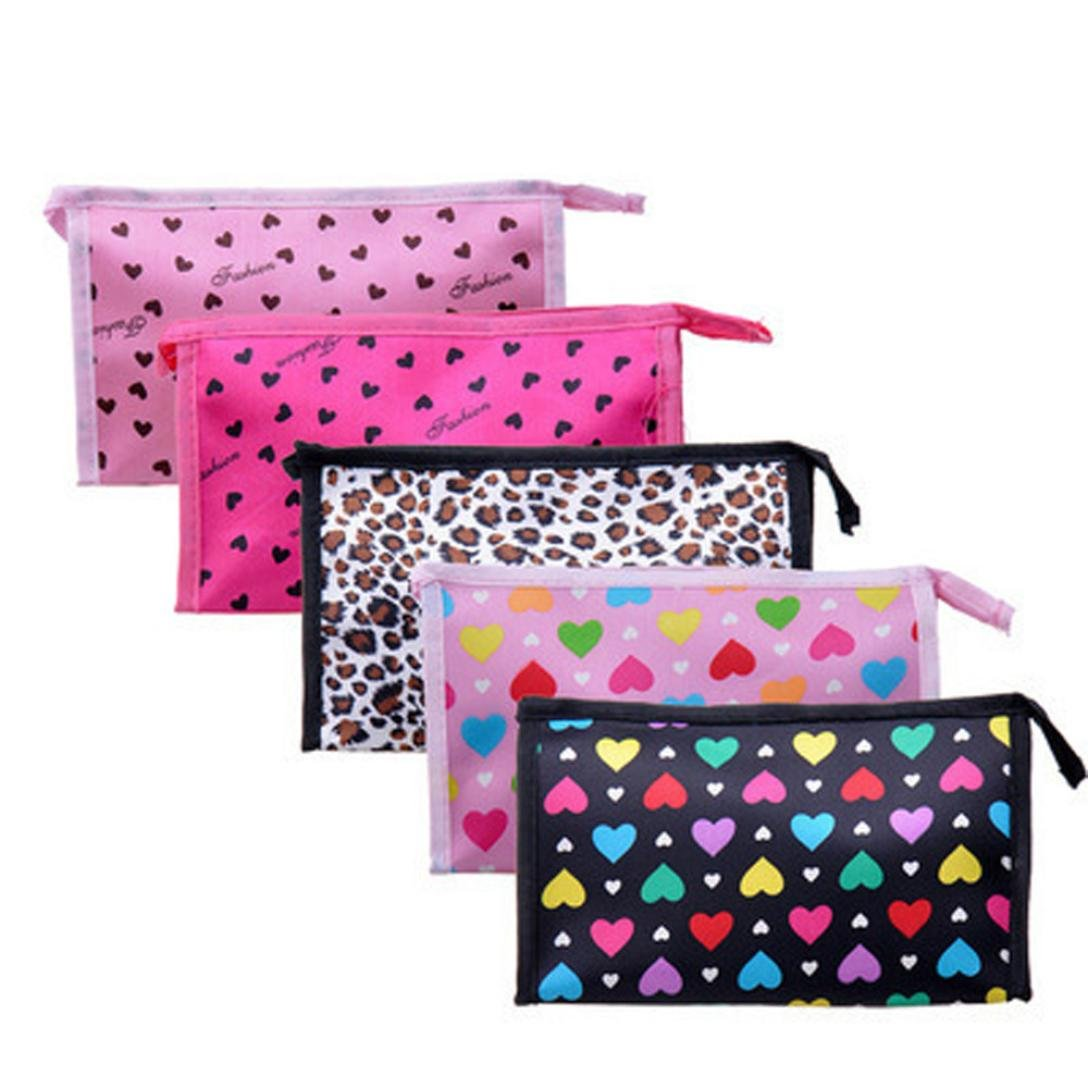 LiPing Superior Quality Multi Handy Bag Travel Cosmetic Clutch Bag Makeup Case Pouch Toiletry Wash Organizer for Travel Toiletry Beauty Bag for Women