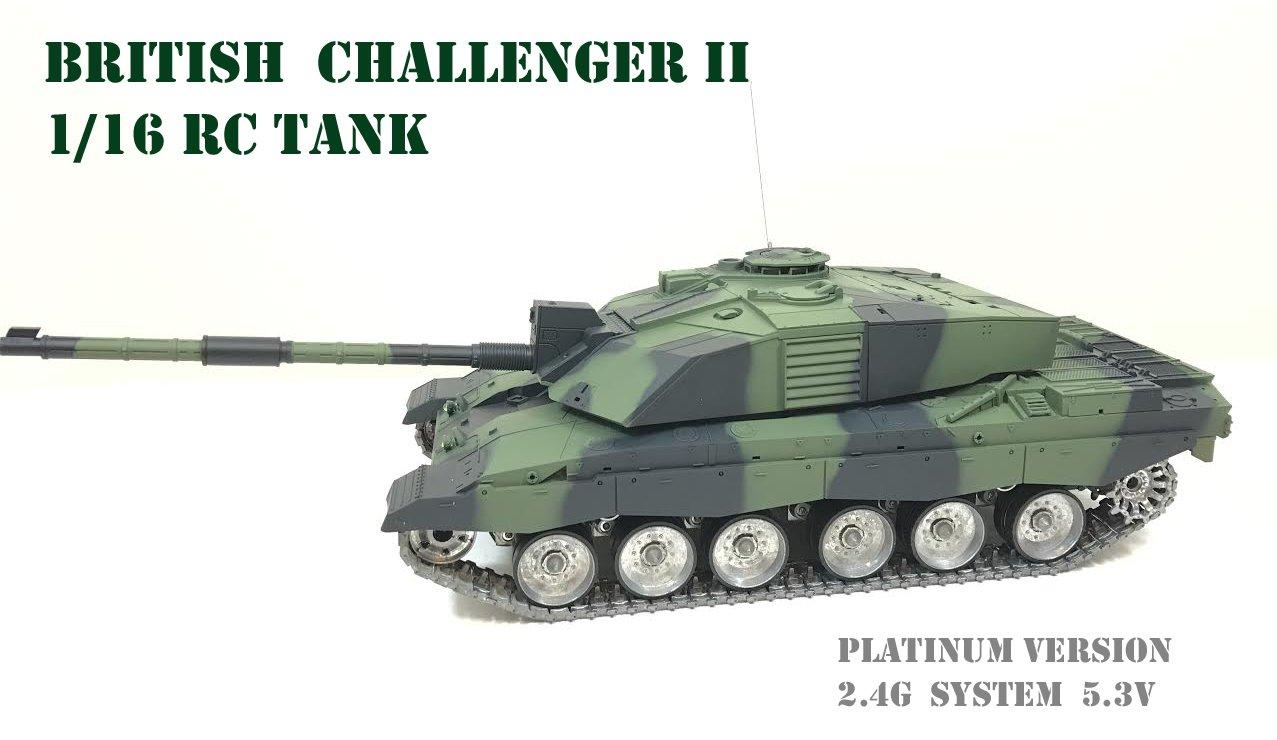 8f81b2edf9a9 Heng Long British Challenger 1 16 RC Tank NATO Green - Platinum ...