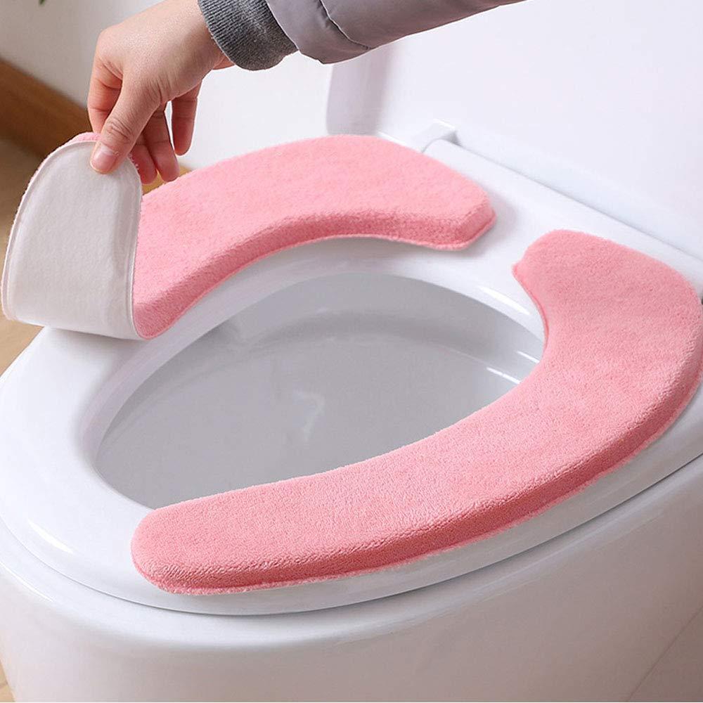 Blau und /Rosa Blau und /Rosa STEPRAE WC-Sitzbez/üge Gepolstertes Toilettensitzkissen Wasserdicht Antibakteriell Waschbar WC-Sitzauflagen 2er Pack