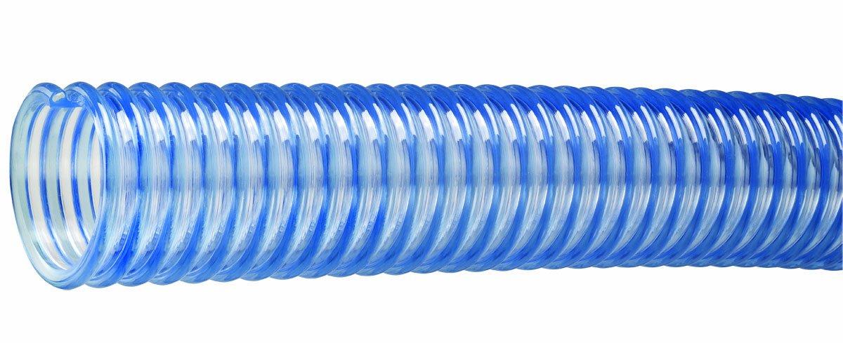 Tigerflex WT Series Food Grade PVC Material Handling Hose, 50 PSI Max Pressure, 1-1/2 inches ID, 50 feet Length by Tigerflex (Image #1)