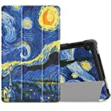 """Infiland All-New Fire HD 8 2017/ Fire HD 8 2016 Case, Slim Lightweight Tri-fold Stand Cover For All-New Fire HD 8 (7th Gen, 2017 Release)/ Fire HD 8 (6th Gen, 2016 release) 8"""" Tablet, Starry Night"""