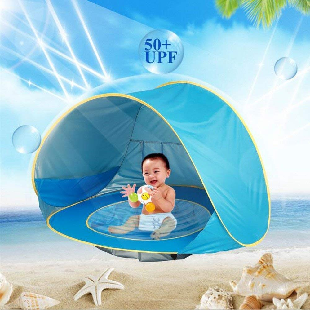 XGuangage Children Free Easy Easy Set up Beach Game [並行輸入品] Children Tent Outdoor Sun Protection Kids Swimming Portable Shade Pool (Blue) [並行輸入品] B07R4TW12S, 【予約受付中】:92db398e --- number-directory.top