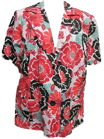 91beeb7f38324 Elementz Plus Size Shirt Jacket Blazer 2X Floral  Amazon.com.au  Fashion