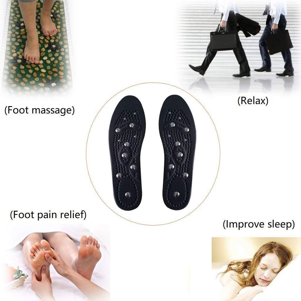 Sottopiede per massaggio magnetico Laprado L salviette per agopressione traspiranti per il piede per rilassare i muscoli alleviare il dolore ai piedi 40-45 migliorare la circolazione sanguigna