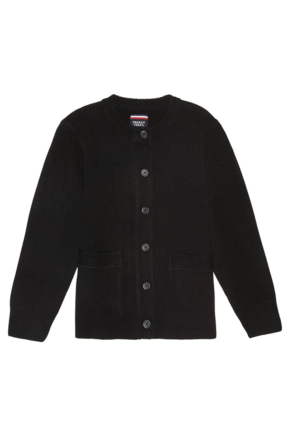 French Toast Anti-Pill Crew Neck Cardigan Sweater(Plus Size Chest Size 42-46) Girls Black 10-1/2 Plus French Toast School Uniforms 1371U BLAC 10.5
