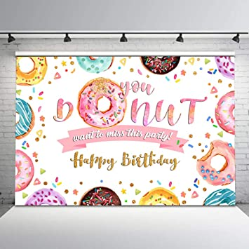 Welcome to Office Party Banner Personalized Donut Party Backdrop