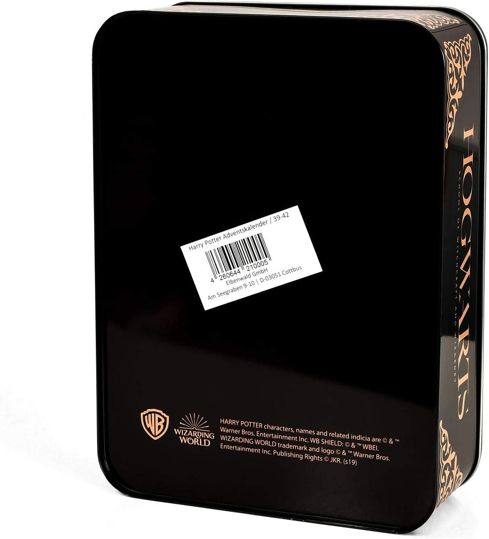 Elbenwald Harry Potter Adventskalender zum Bef/üllen 12 Paar Socken inkl Klammern Sticker Leine