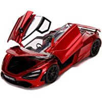 Jada Toys McLaren 720S Candy Red with Black Top Hyper-Spec 1/24 Diecast Model Car by Jada 32275