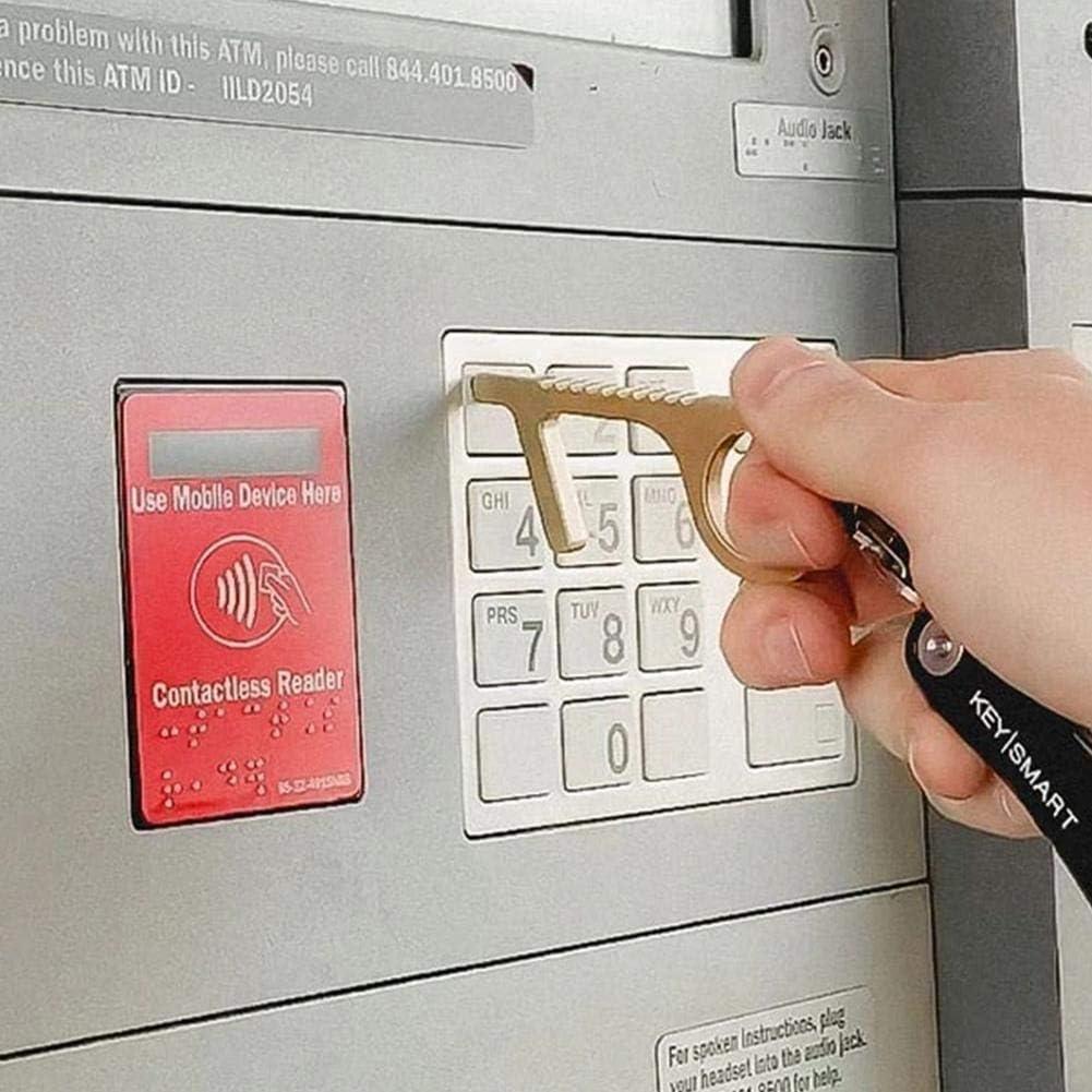 Outils sans contact /Évite les boutons dascenseur tactiles Poign/ées de porte Poign/ées de tiroir public Gadgets Ouvre-porte EDC Ouvre-porte sans contact Ferme-porte sans contact de poche