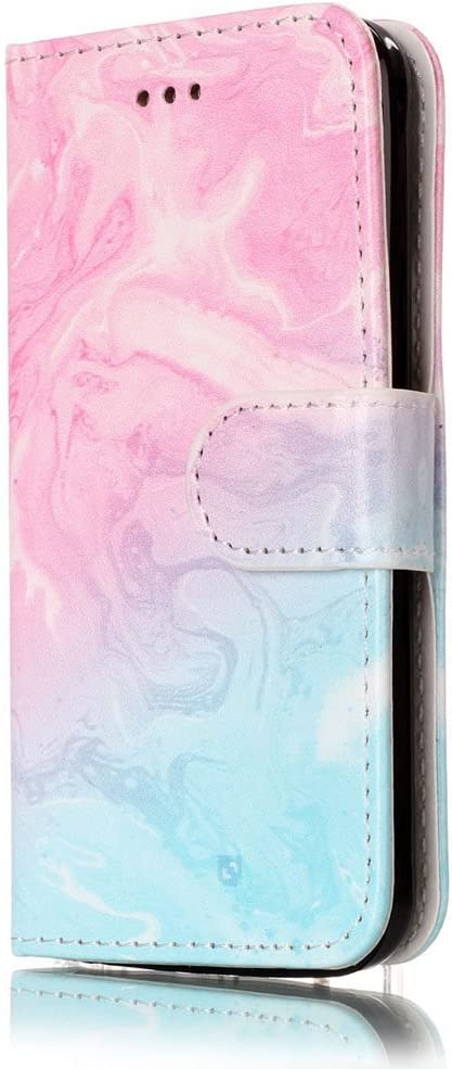iPhone 5C Case, iPhone 5C Wallet Case, 5C Case,JanCalm Pattern Premium PU Leather Wallet [Card/Cash Slots] Stand Magnetic Flip Folio Case Cover for Apple iPhone 5C + Crystal Pen (Pink/Sky Blue)