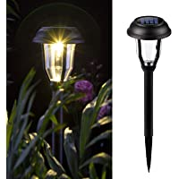 GIGALUMI Solar Pathway Lights Outdoor, 8 Pack Wireless LED Solar Garden Lights, Waterproof Solar Path Lights for Outdoor…