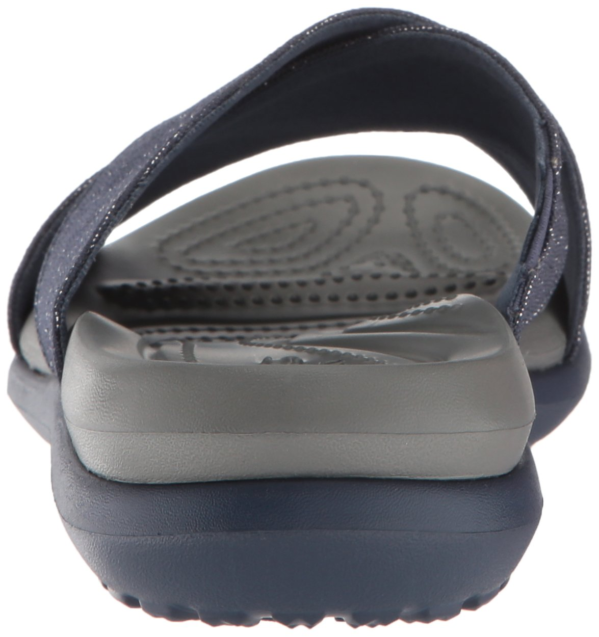 Crocs Women's Capri Shimmer Cross-Band Sandal B078F698CY 11 M US Navy/Slate Grey