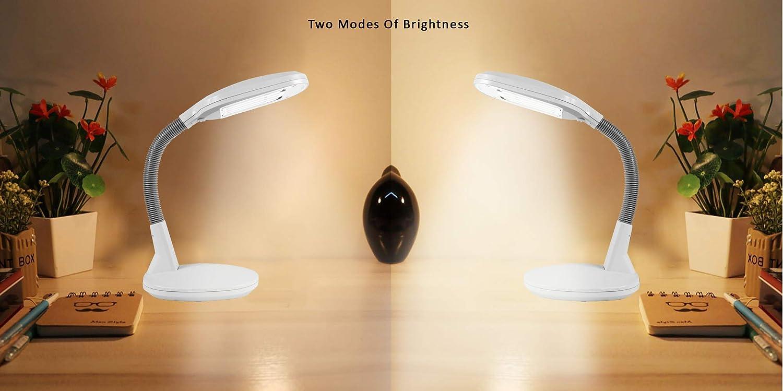 ARSUK Tischleuchte in der N/ähe von Tageslicht High Vision Desktop Light Black Desk Lamp graue Schreibtischlampe