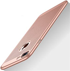 """Heyqie Slim Fit iPhone 8 Plus Case, Ultra-Thin [Skin Touch Feel][Heat Dissipating] Silm Anti-Fingerprint/Skid/Fade Protective Breathable Cooling PC Back Cover Case Compatible with iPhone 8 Plus 5.5"""""""