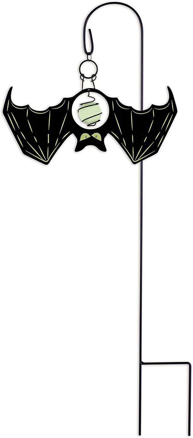 Sunset Vista 15750 Halloween-Fright Night Glow-in-The-Dark Garden Stake, Bat