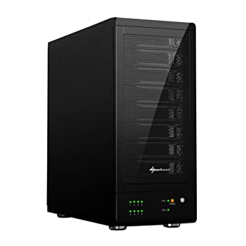 Sharkoon 8-Bay - Caja externa para disco duro, SATA, USB3.0