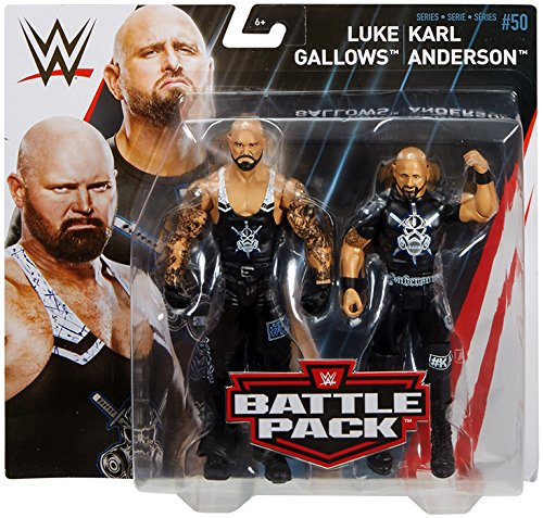 Karl Anderson & Luke Gallows - WWE Battle Packs 50 Mattel Toy Wrestling Action Figure 2-Pack by Ringside