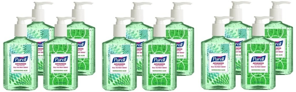 Purell 9674-06-ECDECO Advanced Design Series Hand Sanitizer, 8 oz Bottles (Pack of 12)