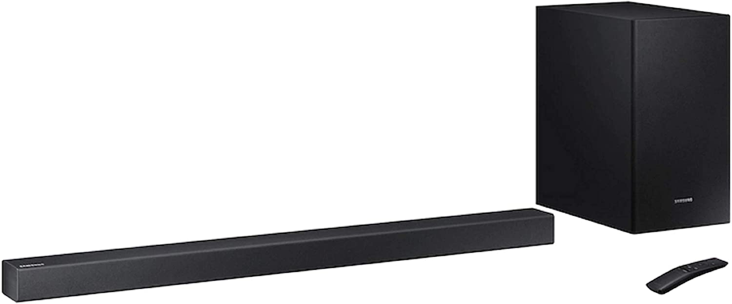 Samsung 200 Watts 2.1 Channels Bluetooth Soundbar with Wireless Subwoofer Dolby Digital Sound Home Entertainment System Stream your Favorite Music via Bluetooth APP Control through your Phone