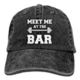 Men And Women Vintage Washed Dyed Cotton Adjustable Plain Baseball Cap Meet Me At The Bar Mom Trucker Hat