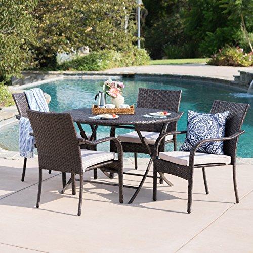 Toluca Patio Furniture   5 Piece Outdoor Dining Set  