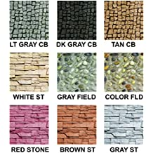 9 Assorted Stone Scenery Sheets for Scrapbooking and Paper Crafts