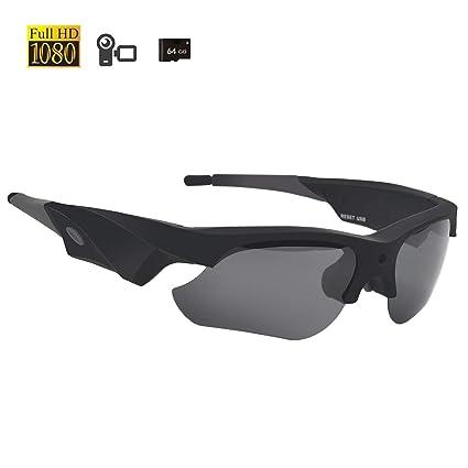 Amazon.com: Gafas de sol para cámara de 1080P Miota Spy con ...