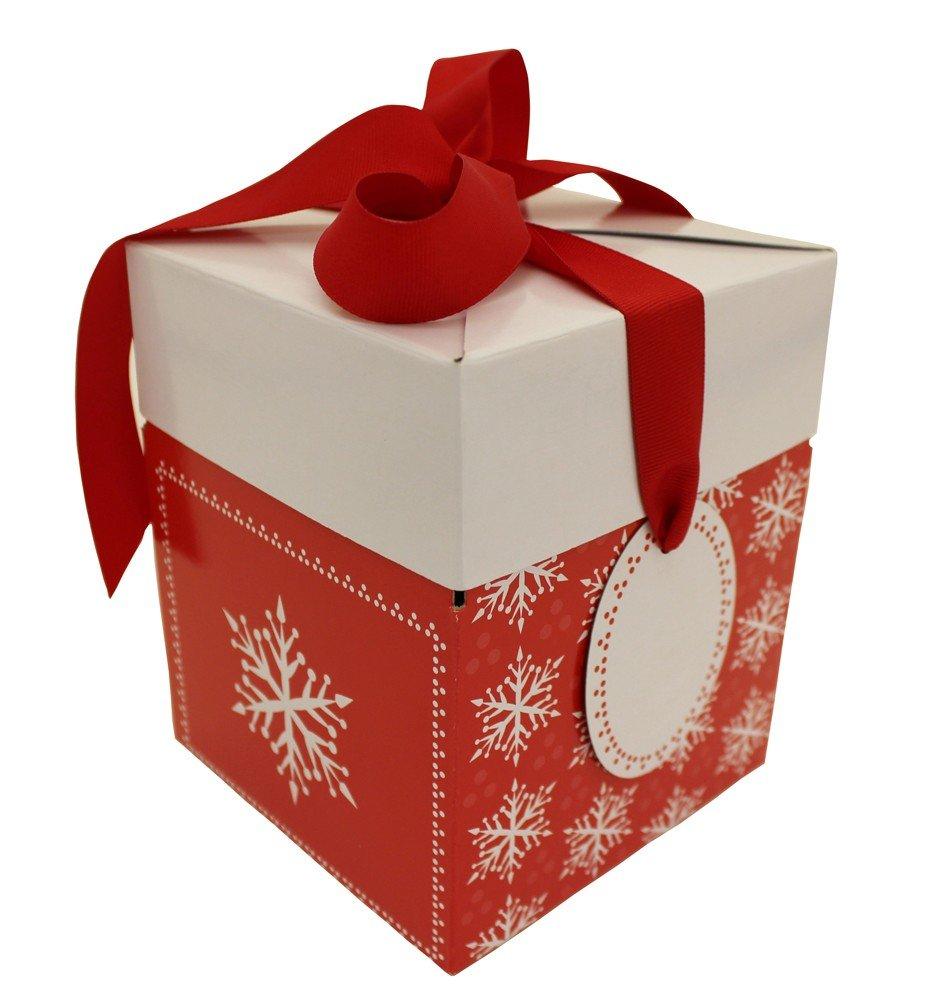Boston International 10 Count Luv2Pak Pop-Up Boxes, Medium, Holiday Snowflake LP41308804