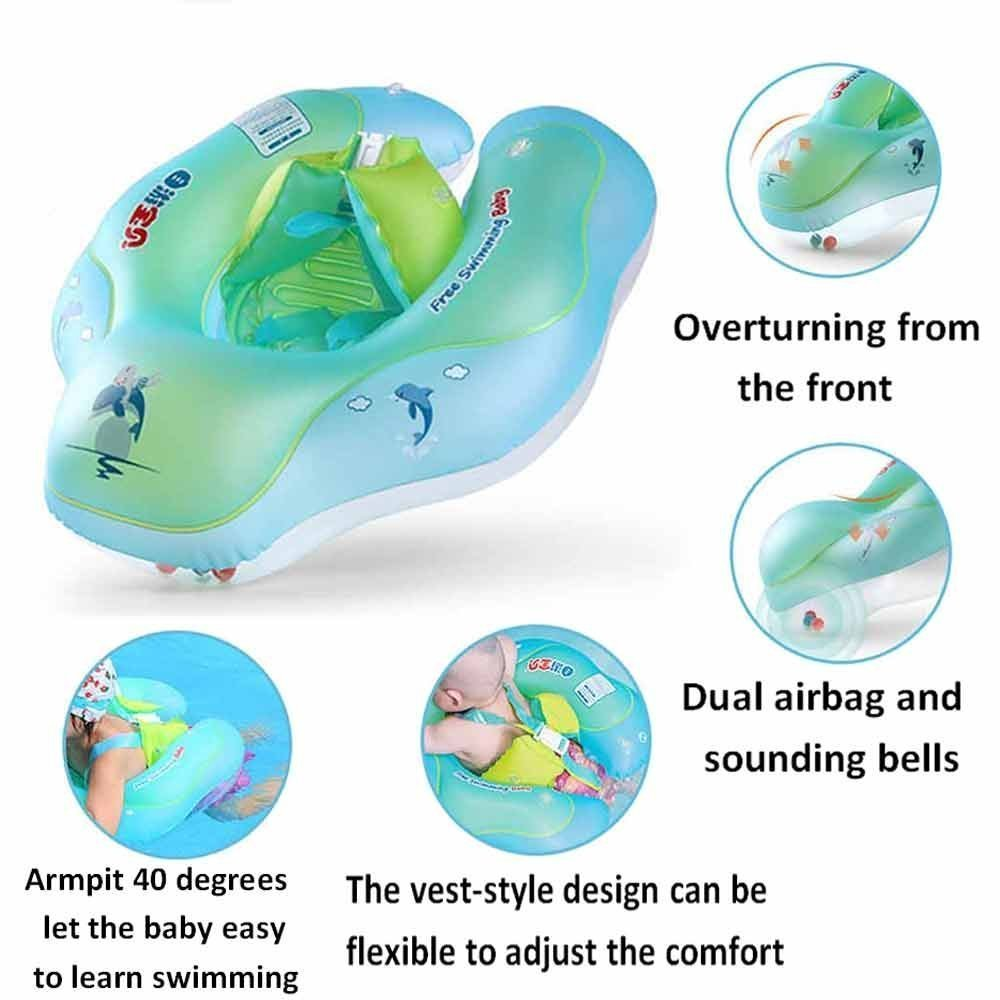 Amazon.com : Baby Swimming Float Ring, Baby Swim Float Newborn Swimming Pool Toys, Inflatable Swim Ring Children Seat Boat Float Early Learning Toy for 3 to ...