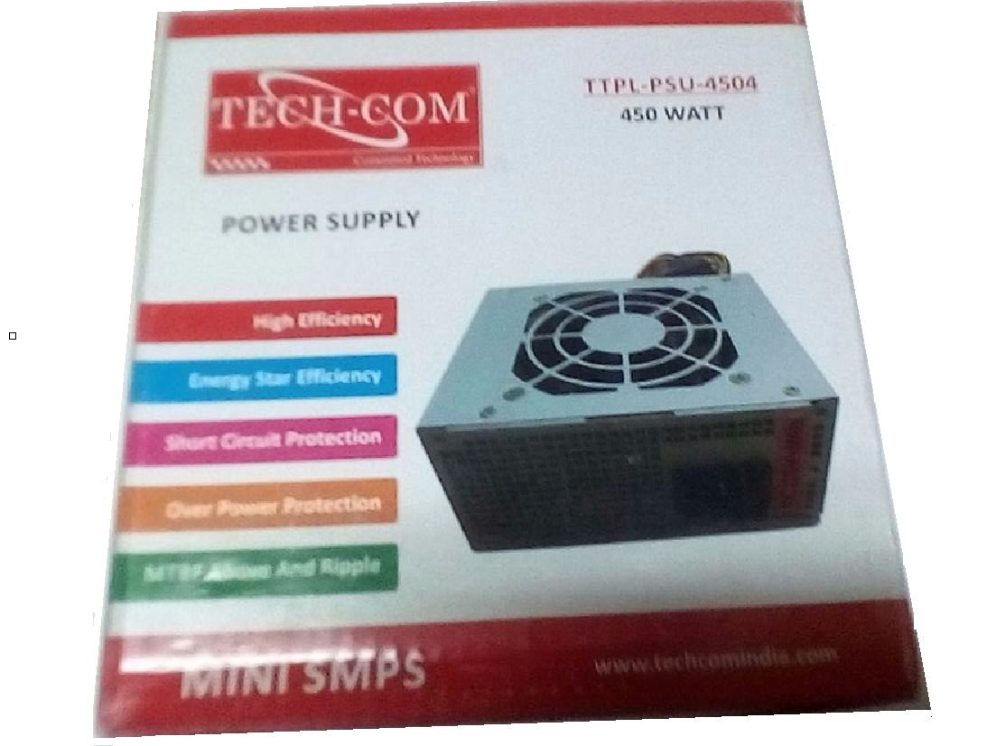 Buy Techcom Mini Smps Power Supply 450 Watt Ttpl Psu 4504 Switchmode Protection Circuit Online At Low Prices In India Reviews Ratings