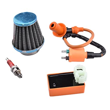 Minireen GY6 CDI Ignition Coil Racing Spark Plug with 39mm Air Filter for  50cc 125cc 150cc Scooter Performance Parts