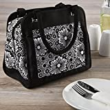Image of Fit & Fresh Ashland Lunch Bag Kit with Reusable Container Set and Ice Pack, Lacey Floral