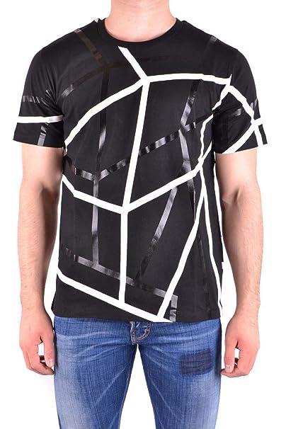 the latest ca133 343f6 LES HOMMES T-Shirt Uomo URE800PUE806A9001 Cotone Nero ...